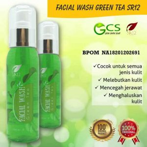 facial wash green tea